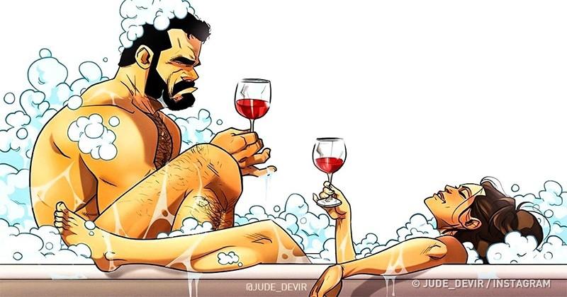 Un artist din Israel a cucerit inima a milioane de oameni cu caricaturi sincere despre viața de zi cu zi cu soția sa